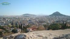 Dealul Lycabettus vedere de la Acropole Atena