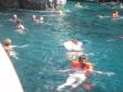 Marathonisi Island swim break