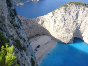 Panoramic view Navagio Shipwreck