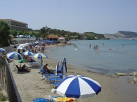 Sezlong-uri plaja Argassi Zakynthos
