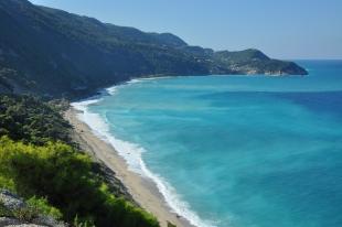 Panoramic view Agias Nikitas Beach