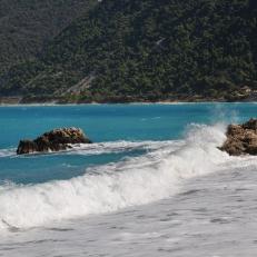 Valuri plaja Agias Nikitas Lefkada