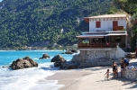Taverna pe maulul marii -plaja Agias Nikitas Lefkada