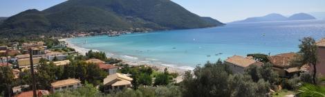 Panorama plaja Vassiliki Lefkada