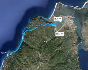 Harta Lefkada Statiunea Agios Nikitas