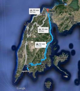 Harta Plaja Agiofili - Lefkada