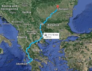 Harta Traseu Bucuresti Zakynthos