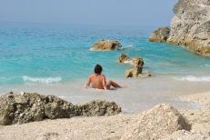 Relax at Megali Petra Beach Lefkada