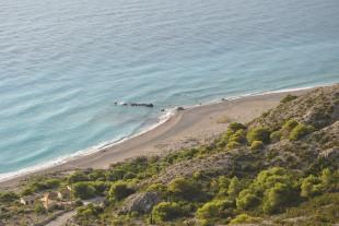 Panorama plaja Gialos Lefkada