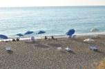Sunbeds at Gialos Beach Lefkada