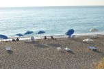 Sunbeds at Gialos Beach Lefkada