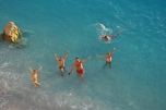Happy people at Porto Katsiki Lefkada