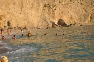 Swiming at Porto Katsiki Lefkada