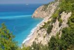 Panorama plaja Egremni Lefkada