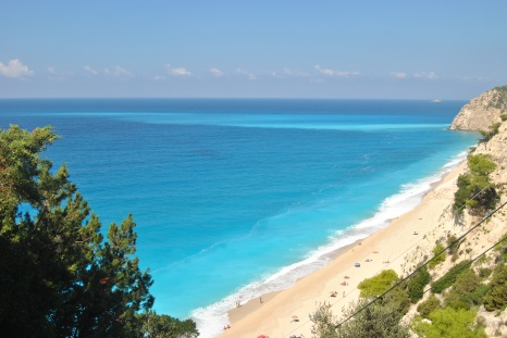 Panoramic view Egremni Beach Lefkada