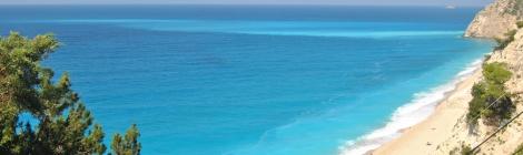 Panoramic view Egremni Beach Lefkada
