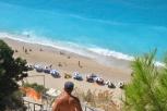 Treptele de la plaja Egremni Lefkada