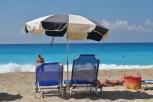 Perfect sunny day at Egremni Beach Lefkada