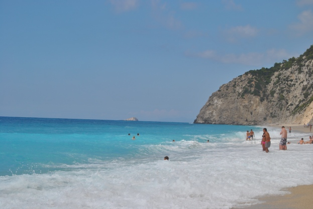 Waves at Egremni Beach Lefkada