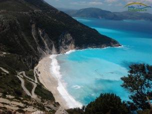 Panorama plaja Myrthos Kefalonia