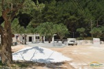 Noul beach bar in constructie Marble Beach Thassos