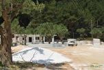 Noul beach bar in constructie Marble Beach Thassos
