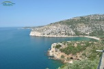 Livadi Beach - vedere de la Manastirea Arhanghelului Mihail