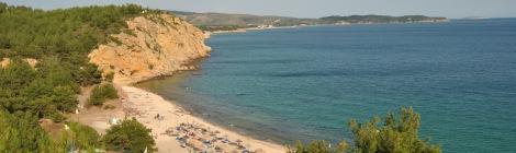 Metalia Beach - vazuta de pe versant