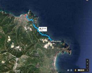 Harta Plaja Marble Beach -Thassos