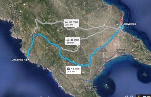 Harta Porto Roxa Zakynthos