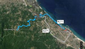 Harta Satul Paleo Pandeleimonas-traseu din Platamonas