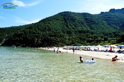 Panorama plaja Paradise Thassos