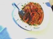 Delicioasele paste iau gustul interesant al crevetilor si ofera o inedita experienta culinara. Va recomandam sa le incercati!