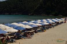 Zona amenajata Plaja Paradise Thassos