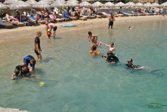Lindos Insula Rodos - plaja Agios Pavlos, cursuri de initiere in scuba diving