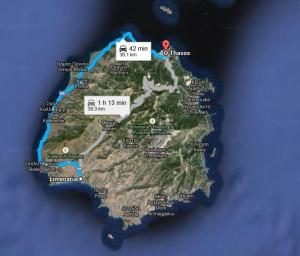 Harta Limenaria - Insula Thassos