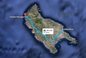 Harta Navagio - Insula Zakynthos