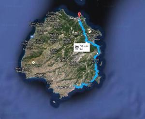 Harta Plaja Livadi  Thassos