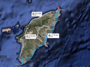 Harta Prasonisi Insula  Rodos