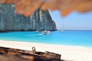 Boats at Navagio Beach - Zakynthos