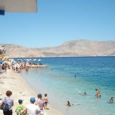 Insula Symi - mica plaja aproape de port
