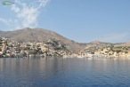 Insula Symi - Intrarea ferry boat-ului in portul natural