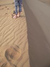 Pe varful unei dune!