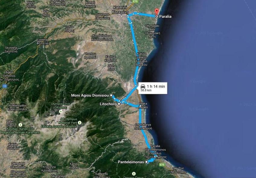 Harta Excursie Optionala La Muntele Olimp Infoholidays