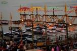 India - Varanassi - locul de desfasurare al ceremoniei Aarti