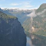 Norvegia - Geiranger - panorama asupra orasului