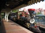 Disneyland inside train