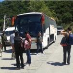 Muntele Athos - Transportul in comun spre Karies