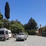 Muntele Athos - Transportul in comun din Karies spre Marea Lavra
