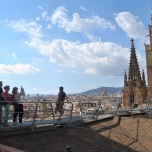 Catedrala BARCELONA vedere acoperis
